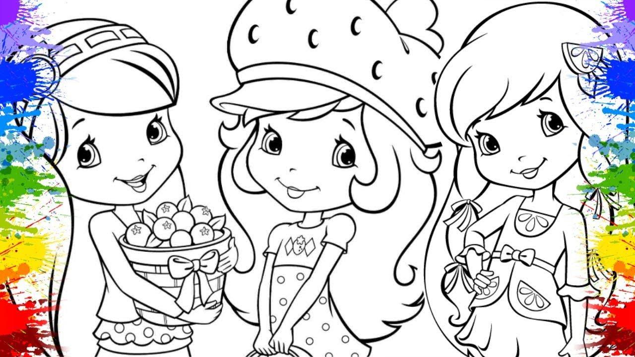 Desenho Da Turma Da Moranguinho Kids Colouring Cores Tutti Frutti