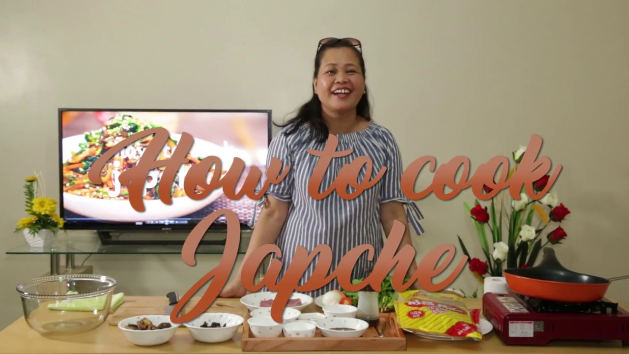 How to cook korean food  'Japche' in Tagalog