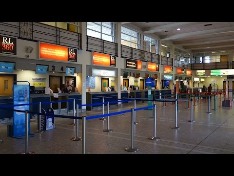 (HD) Isle of Man Airport Check-in area and airline counters