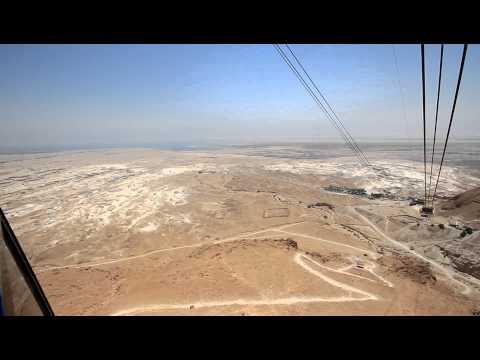 Cable-Car to Massada near the Dead Sea - Israel