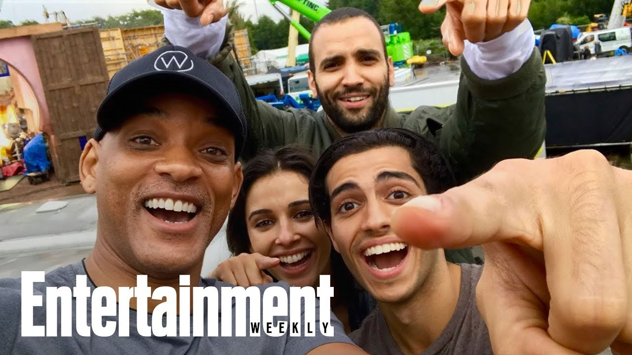 Aladdin Will Smith Shares 1st Cast Photo From Live Action Set