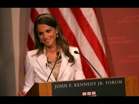 Queen Rania at The Kennedy School of Government - Harvard University