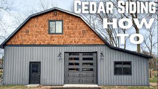 How To Install Cedar Shake Siding // Dream Workshop Build (Part 1) // DIY