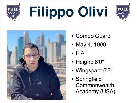 Filippo Olivi - 1999 - ITA - Combo Guard - Springfield Commonwealth Academy (USA)