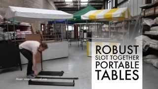 Portable Slot Together Market Stall Trestle Table Very Heavy Duty Design