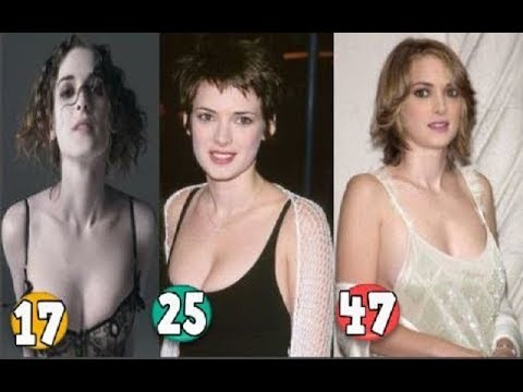 Winona Ryder ♕ Transformation From 13 To 47 Years OLD