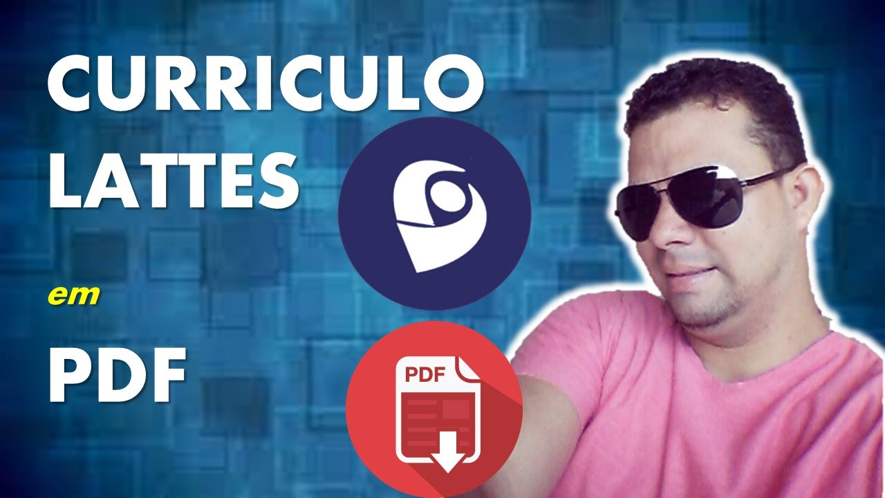 COMO SALVAR O CURRICULO LATTES NO FORMATO PDF - YouTube