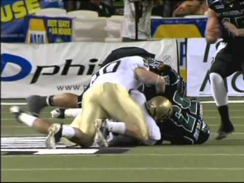 John Hardy-Tuliau fumble recovery Idaho vs. Hawaii 2010