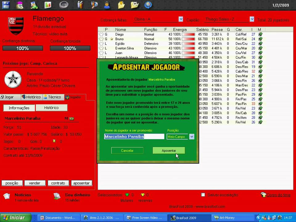 o jogo brasfoot 2009 gratis