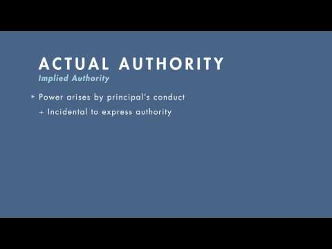 Business Associations tutorial: The Agent's Authority to Act | quimbee.com