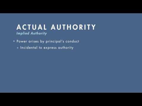 actual authority