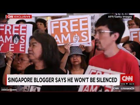 CNN 訪問星加波 Amos Yee, 毛哥 吳文遠聲援Amos 照片上鏡