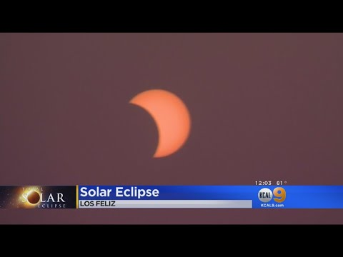 Thousands Flock To Griffith Observatory To Watch Solar Eclipse