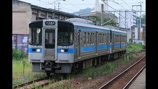 【7000系】JR四国 予讃線 三津浜駅に普通列車到着