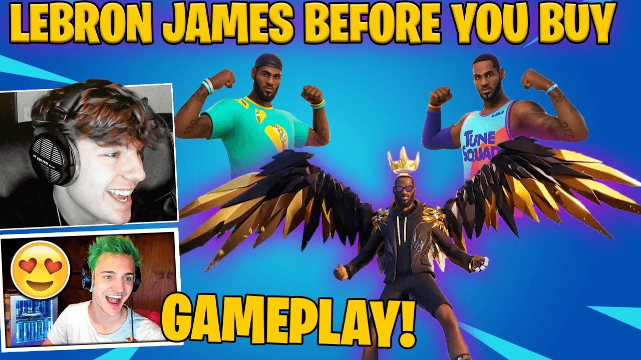Download Streamers React To Lebron James Skin In Fortnite Item Shop! All Styles Gameplay