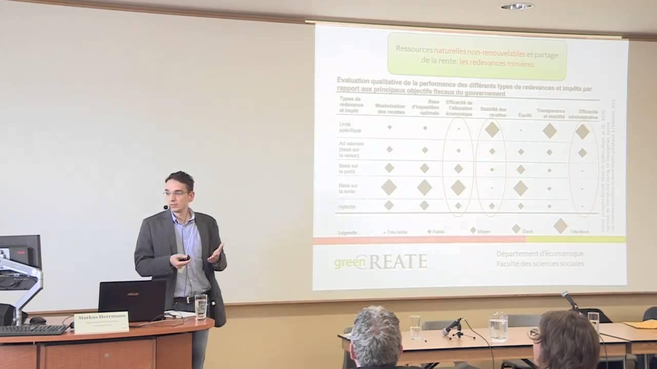 Markus Hermann - La gestion durable des ressources du Nord québécois