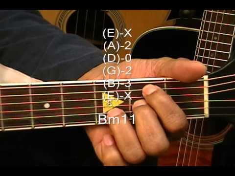Guitar Chord Form Tutorial #121 Lesson D A Bm11 G Shakira Style ...