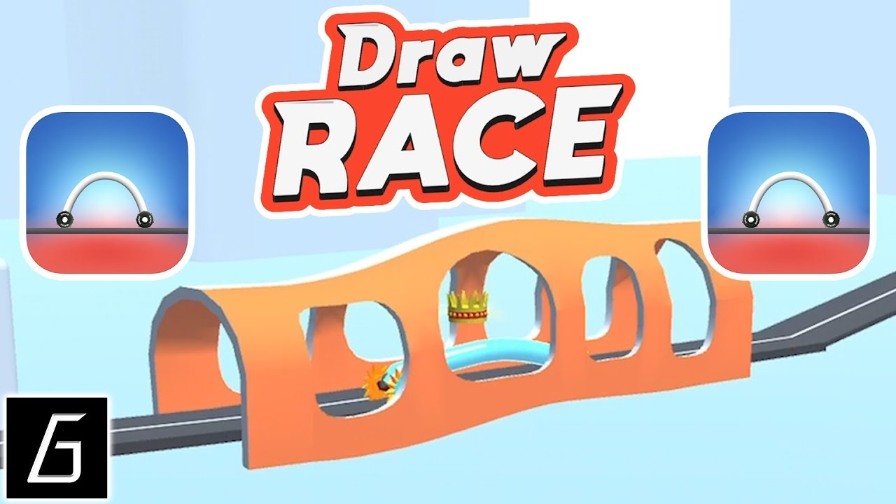 Draw Race Gameplay - First Levels 1 - 20 (iOS - Android) image