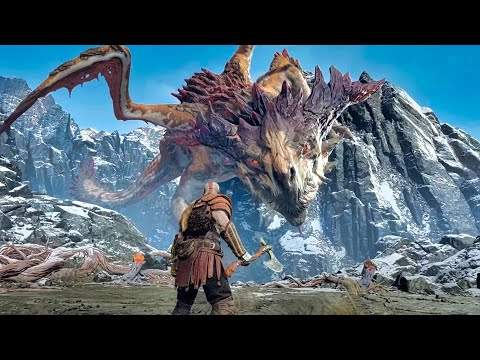 God of War 4 - Dragon Boss Fight (God of War 2018) PS4 Pro
