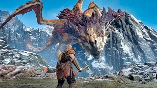 vuclip God of War 4 - Dragon Boss Fight #7 (God of War 2018) PS4 Pro