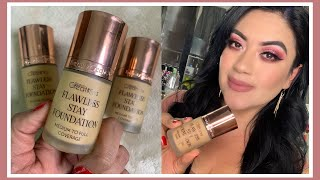 Gambar cover NUEVA BASE BEAUTY CREATIONS FLAWLESS STAY FOUNDATION / Reseña y Swatches