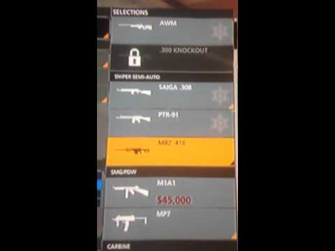 Battlefield hardline how to get the 300. Knockout prerequisite 10 guns and/or gadgets purchase
