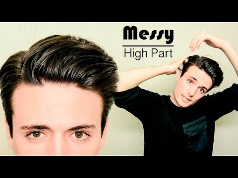 Messy High Part Hairstyle | Quick & Easy Mens Hair Tutorial