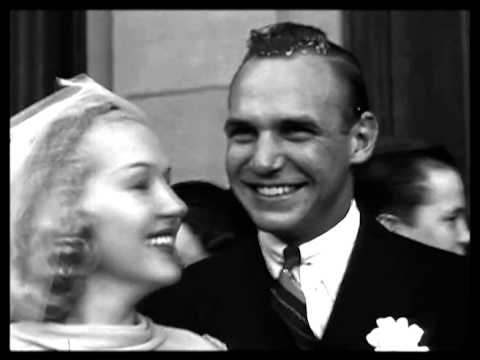 Jackie Coogan gets Married to Betty Grable 1937