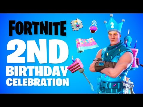 "*NEW* FREE BIRTHDAY ITEMS! FORTNITE ""2ND BIRTHDAY"" CELEBRATION EVENT! (BIRTHDAY CHALLENGES/ REWARDS)"