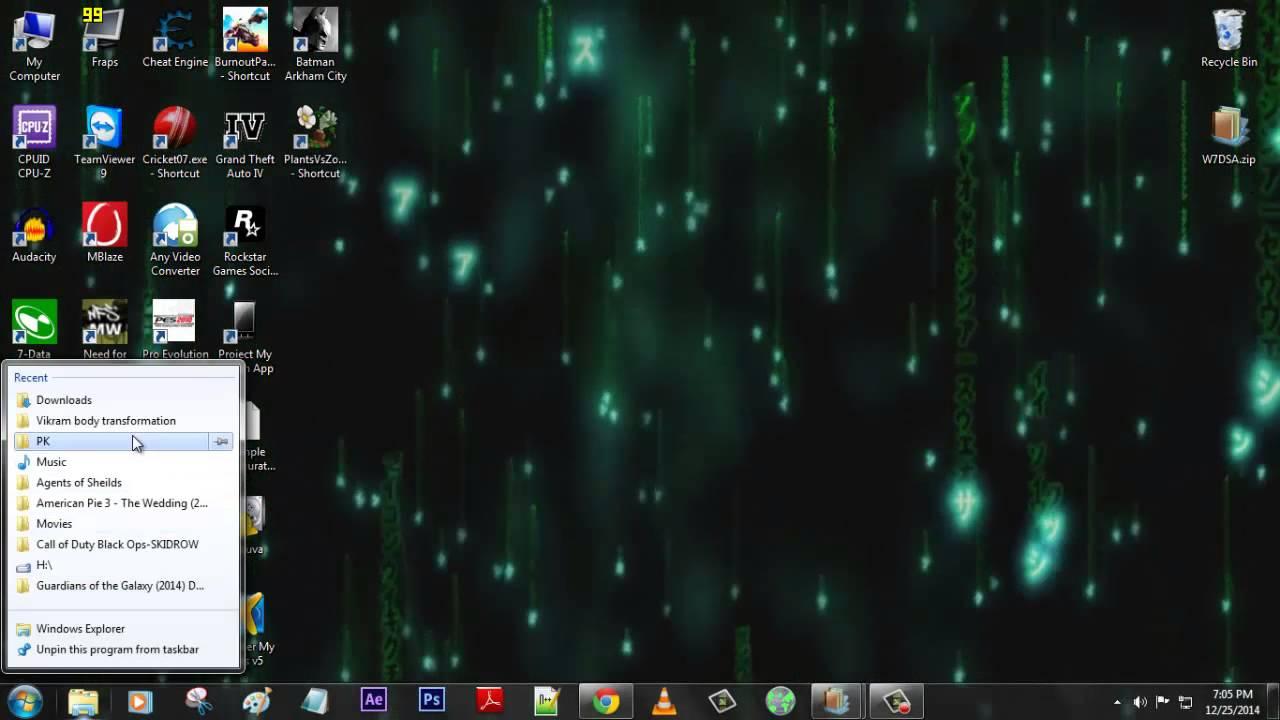 How To Matrix Rain Drops On Your Desktop Easy Way