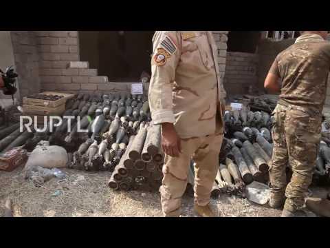 Iraq: Victorious Iraqi soldiers enter village of Qara Qosh near Mosul