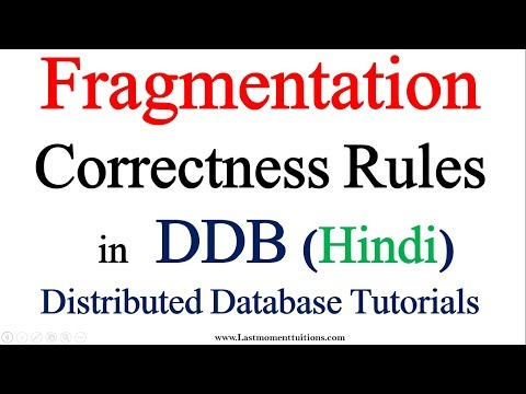 Fragmentation and correctness rules in Hindi | Distributed Database Tutorials