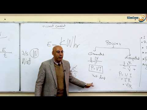 Lecture 7 Part 3 -  Direct Current ( Power & Resistor connection )