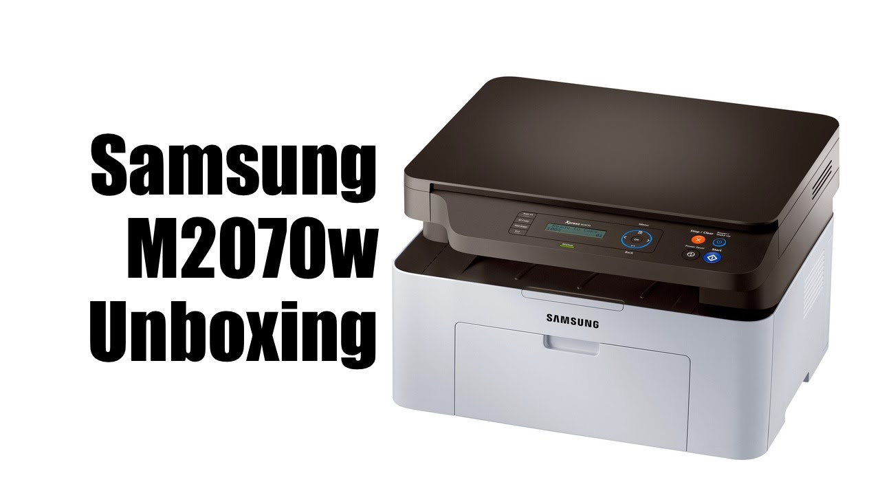 samsung m2070w laser printer unboxing youtube. Black Bedroom Furniture Sets. Home Design Ideas