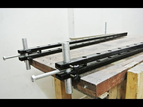 Homemade Bar Clamps/Panel Clamps | DIY