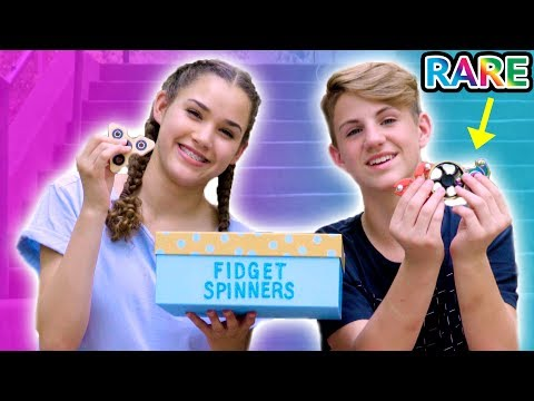 Thumbnail: RARE Fidget Spinner Surprise Unboxing + Tricks! (MattyBRaps vs Gracie)