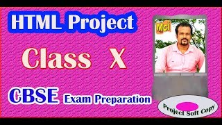 HTML  project class 10 CBSE  | PART-1| project tutorial
