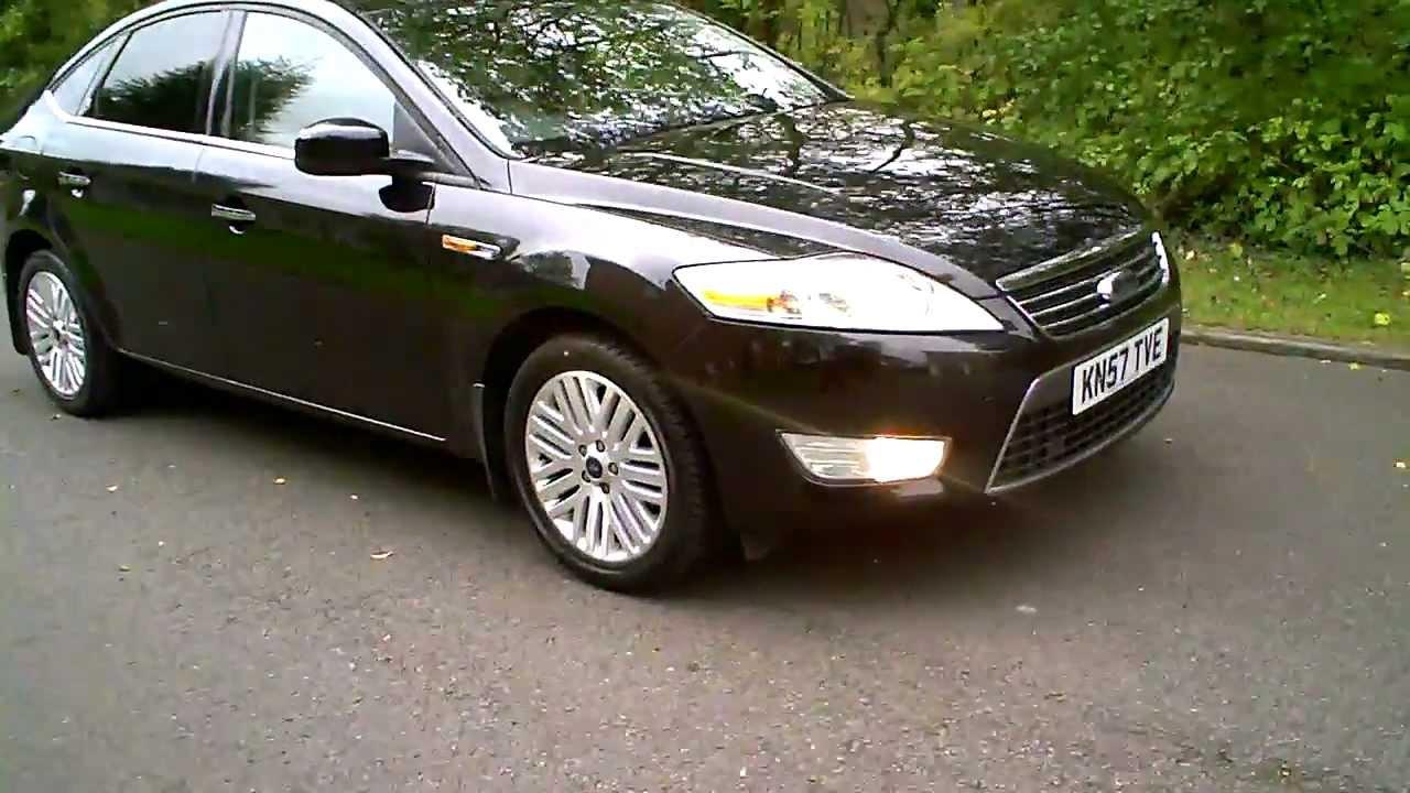 2007 ford mondeo ghia hatchback in black youtube. Black Bedroom Furniture Sets. Home Design Ideas