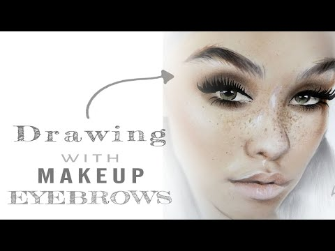 How to draw eyebrows with make up   FACECHART ART- Part 1