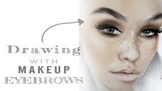 How to draw eyebrows with make up | FACECHART ART- Part 1