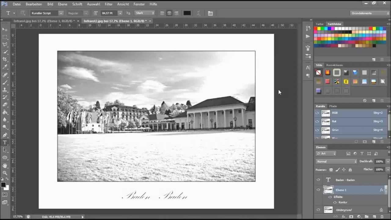 Photoshop CS6 - Schönen Rahmen erstellen [Deutsch] - YouTube