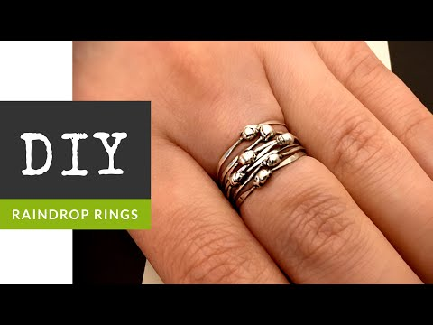 How To Make Sterling Silver Raindrop Stacker Rings With The Bead Place