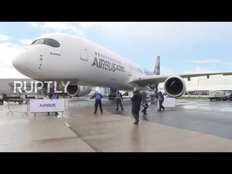 Germany Merkel Opens Joint German French Aerospace Exhibition Ila