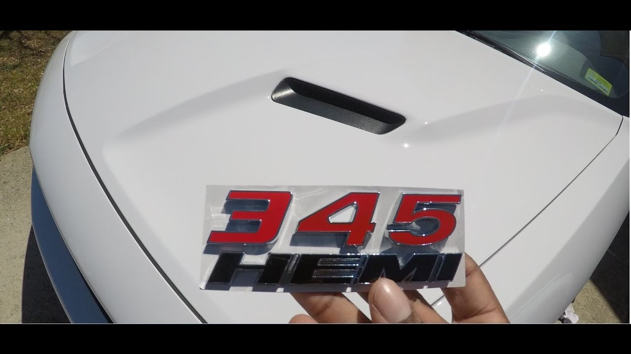 Dodge 5 7 Hemi >> 345 HEMI Badge installed!!! - YouTube