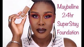 MAYBELLINE 24HR SUPERSTAY FOUNDATION!..... IS IT FDV APPROVED? | Fumi Desalu-Vold