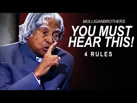 The Most Inspiring Speech: 4 True Rules To Success | A. P. J. Abdul Kalam