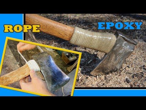 Axe handle guard = Rope + Epoxy