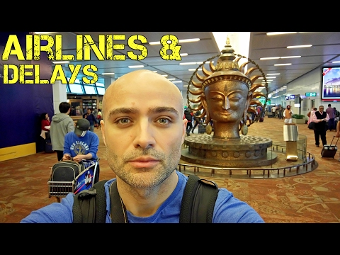 Rant about flight delays. Stereotypes (mine) about best and worst airlines. At the Delhi Airport