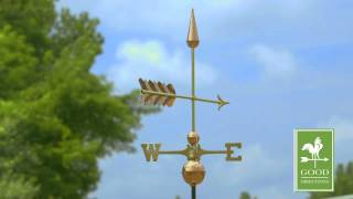 Good Directions   611sp Arrow Weathervane - Polished Copper
