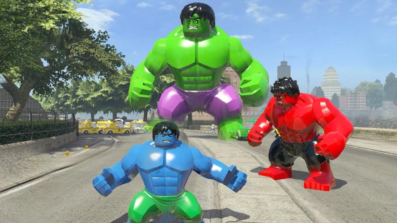 Big Hulk vs Blue Hulk vs Red Hulk - LEGO Marvel Super Heroes